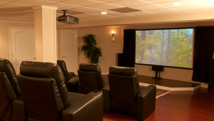 Basement with a Home Theatre