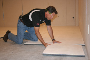 Installing ThermalDry® insulated floor decking in Canton