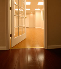 Basement Wood Flooring installed in Alliance, Ohio