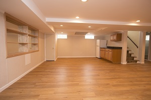 Basement finishing flooring in Canton & nearby