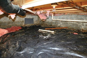 Crawl Space Repair Before in Canton